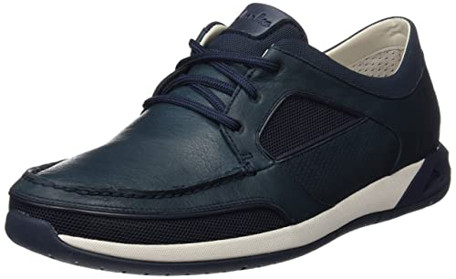 Clarks Men's Ormand Sail Boat Shoes, Blue (Navy Leather), 6 UK