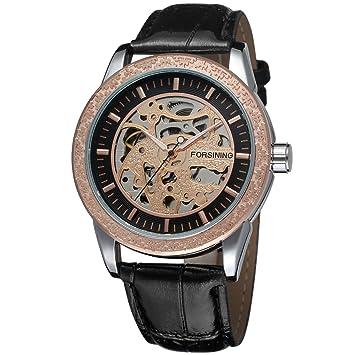 FORSINING Mens Stylish Automatic Self-Wind Mechanical Skeleton Analogue Sport Wrist Watch FSG8086M3T2