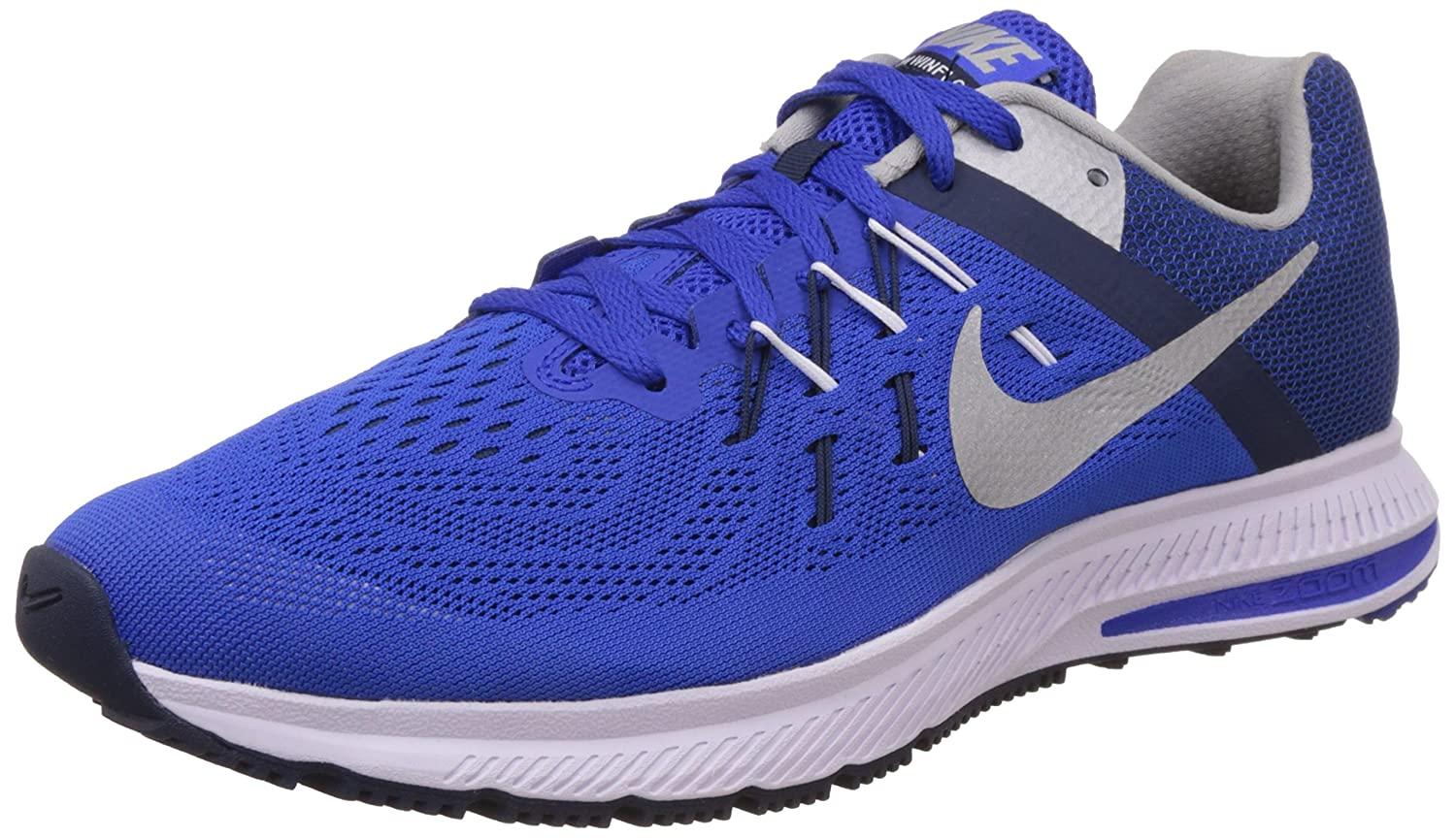 wholesale dealer 8371b 6bc16 Nike Men s Zoom Winflo 2 Racer Blue, Midnight Navy and White Running Shoes  -11 UK India (46 EU)(12 US)  Buy Online at Low Prices in India - Amazon.in