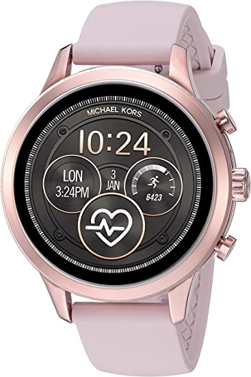 Michael Kors Women's Access Runway Stainless Steel Silicone Smart Watch, Color: Rose gold tone (Model: MKT5048)