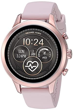Michael Kors Womens Access Runway Stainless Steel Silicone ...