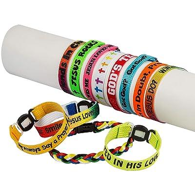 Fun Express Mega Religious Friendship Bracelets (150 Bulk Assortment) VBS Friendship Bracelets: Clothing