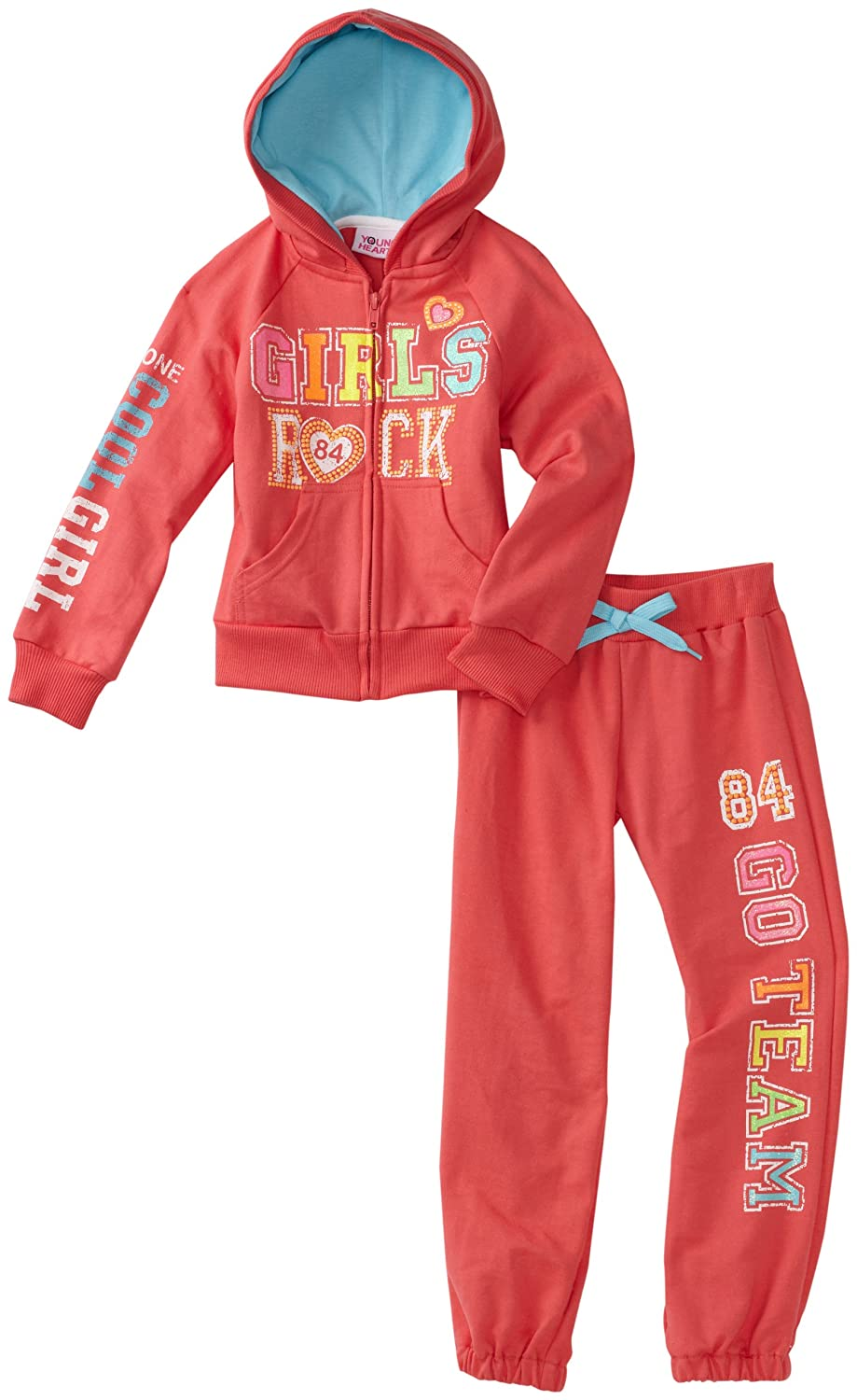 Young Hearts Little Girls Girls Rock French Terry Set