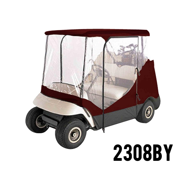Proカバー2308by 2 Person運転ゴルフカートカバー、フィットヤマハEZ GO、クラブ、カート、ブルゴーニュ B00V5FBSX2