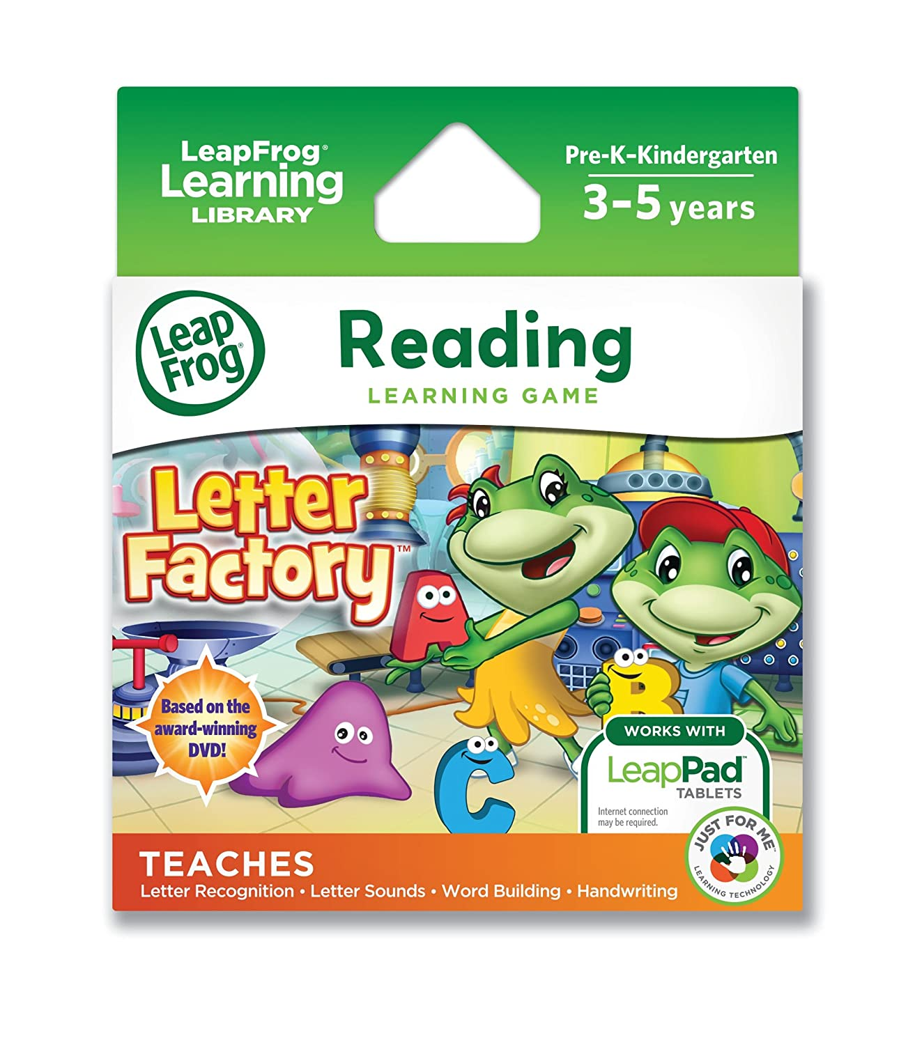 LeapFrog Letter Factory Learning Game works with LeapPad Tablets and Leapster GS