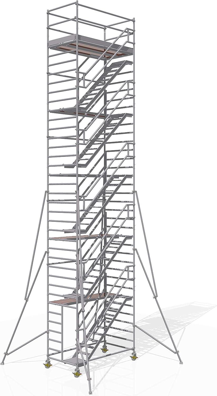 Altec Escaleras Torre de aluminio altura 12,2 m gleichlaufend