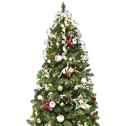 Amazon Com Ki Store Artificial Christmas Tree With Decoration