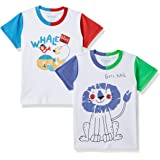 Bumchums Baby Boy's Plain Regular fit T-Shirt (Pack of 2) (Assorted) (Color & Print May Vary)