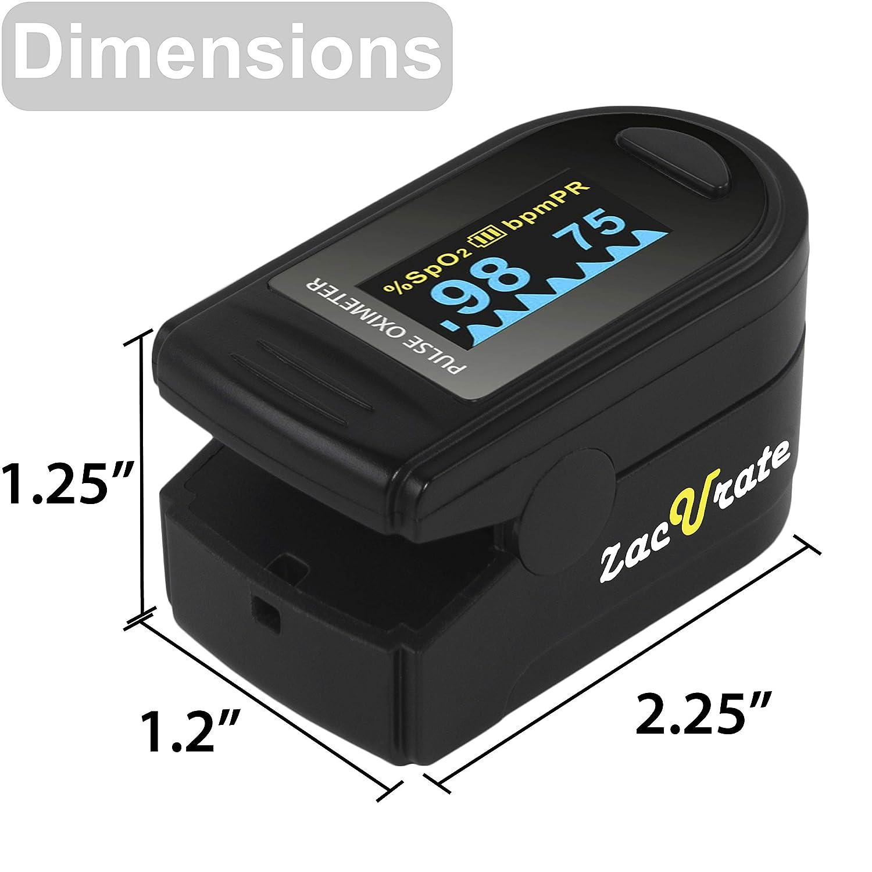 Amazon.com: Zacurate Pro Series 500D Deluxe - Oxímetro de ...