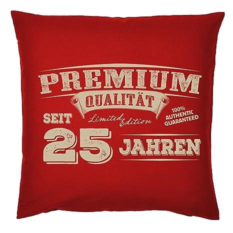 Acolchado para 25 Cumpleaños Cojín con relleno Premium ...