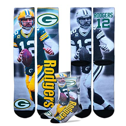 db561925 Green Bay Packers Youth Size NFL Drive Crew Kids Socks (4-8 YRS) - Aaron  Rodgers