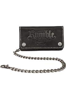 06b215faa35b2 Rumble59 - Leder Wallet – Schwarz - Portemonnaie - Geldbörse - Biker Wallet  - Kette