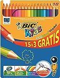 Bic - 873437 - Kids Ecolution Evolution - Crayon de Couleur - Boîte métal - 15 + 3 Gratis