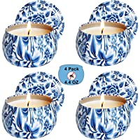 YiSeyruo Citronella Candles Outdoor Indoor: 4.4 oz Scented Candles Pure Soy Wax Aromatherapy Candle Portable Travel Tin…