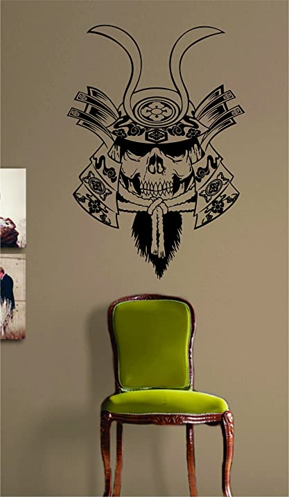 Amazon.com: Samurai Skull Design Decal Sticker Wall Art Vinyl ...