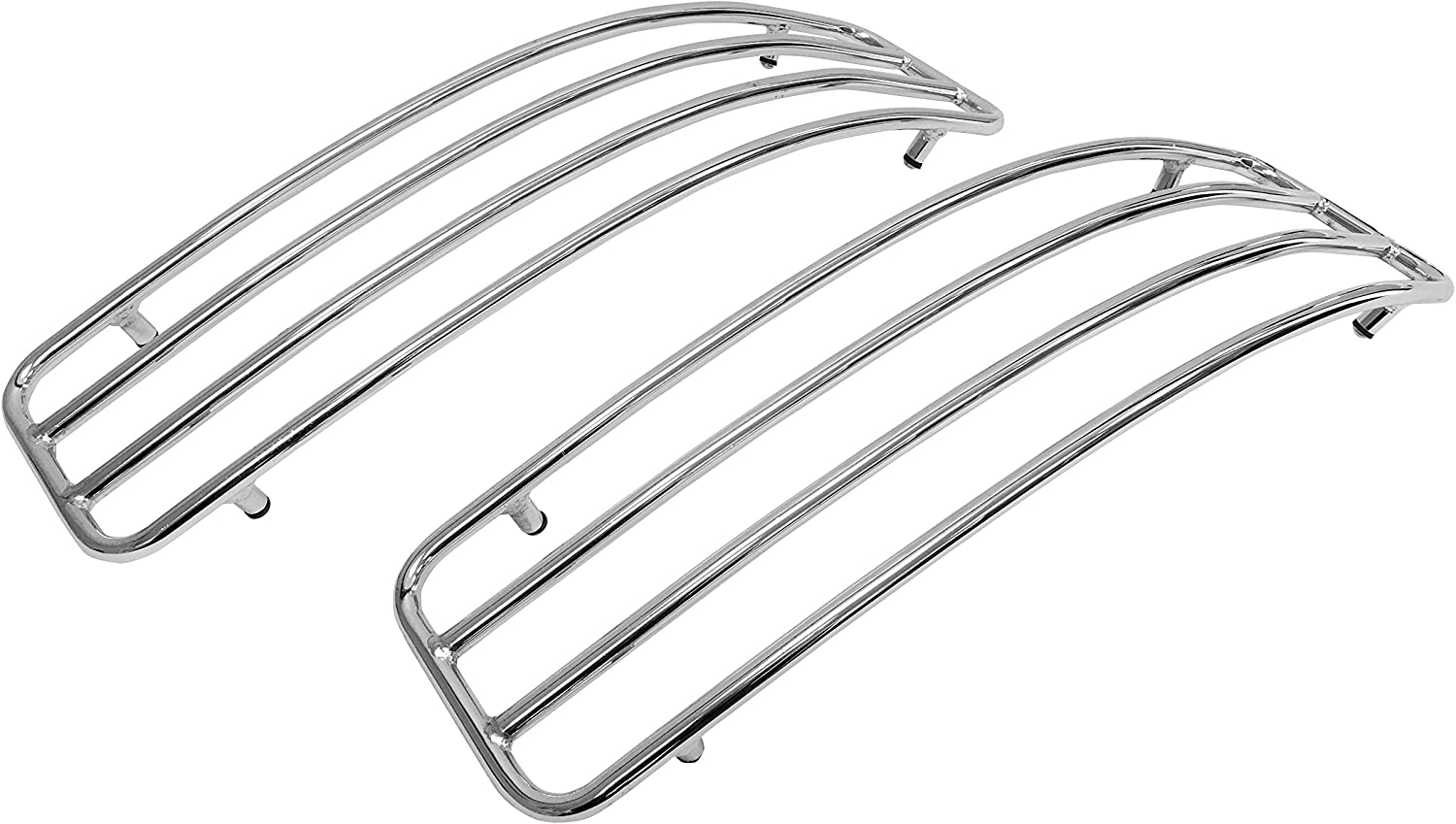 Chrome Top Rails for Kawasaki Vulcan VN1500 VN1600 VN1700 Nomad Hard Saddlebags