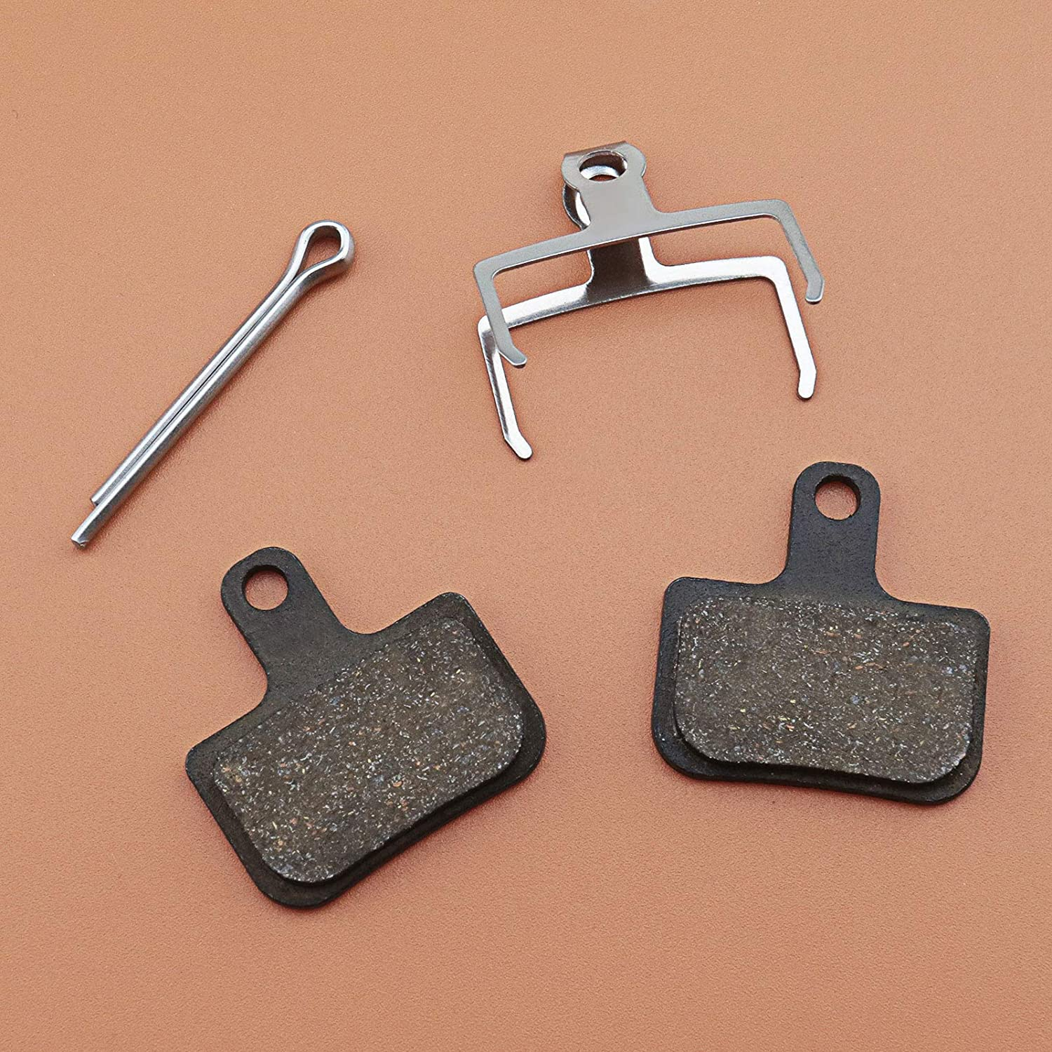 2 Pairs Resin Semi Metallic Bicycle Disc Brake Pads 4mm Thickness With Springs /& Securing Clips Compatible With SRAM Level T Level TL