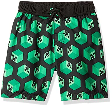 2a0e76859e Amazon.com: Dreamwave Big Boys' Minecraft Swim Trunk: Clothing