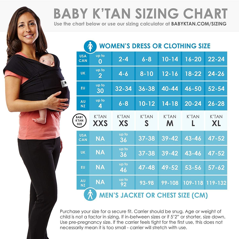 Baby K Tan Baby-Tragetuch, gro/ß, anthrazit Breeze