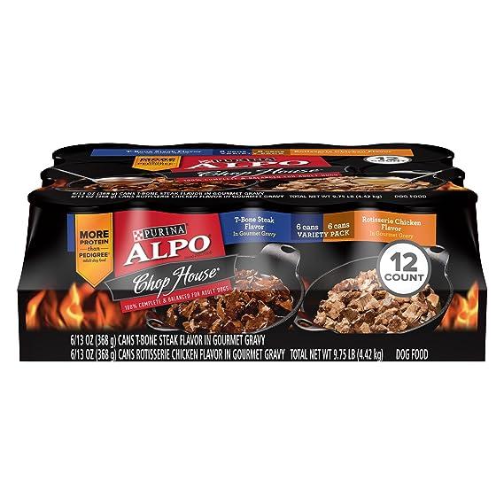 Purina Alpo Chop House T Bone Steak Rotisserie Chicken Flavor