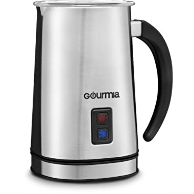 Gourmia GMF225 Cordless Electric Milk Frother & Heater for Extra Foamy Cappuccino, Latte & More, Stainless Steel, Detachable Base For Easy Serving