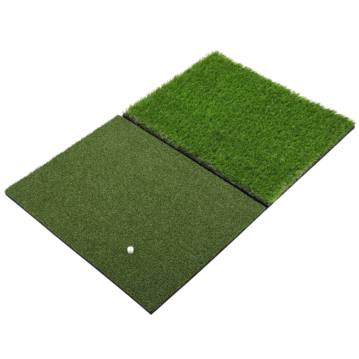 SkyLife Dual-Turf Golf Hitting Grass Mat XL 24''x37'', Portable Training Fairway Rough Turf, Driving Chipping Golf Equipment, Home Backyard Garage Outdoor Practice (XL 24''x37'') by SkyLife