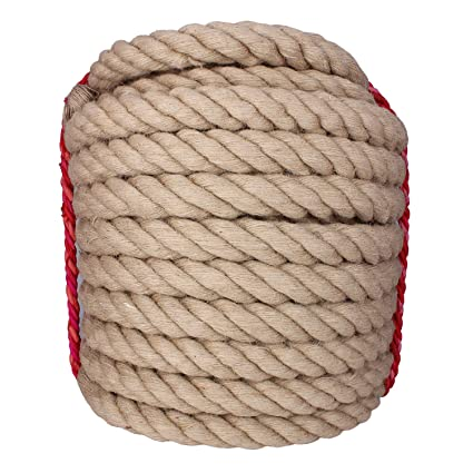 c155c8bfe6 Twisted Manila Rope Jute Rope 100 Feet Natural Jute Twine Hemp Rope 1-1 2-Inch  Diameter Twine Burlap Rope - - Amazon.com