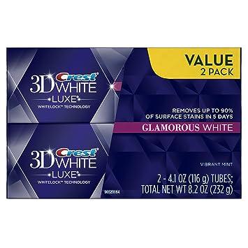 עדכון מעודכן Amazon.com : Crest 3D White Luxe Glamorous White, Vibrant Mint GB-93