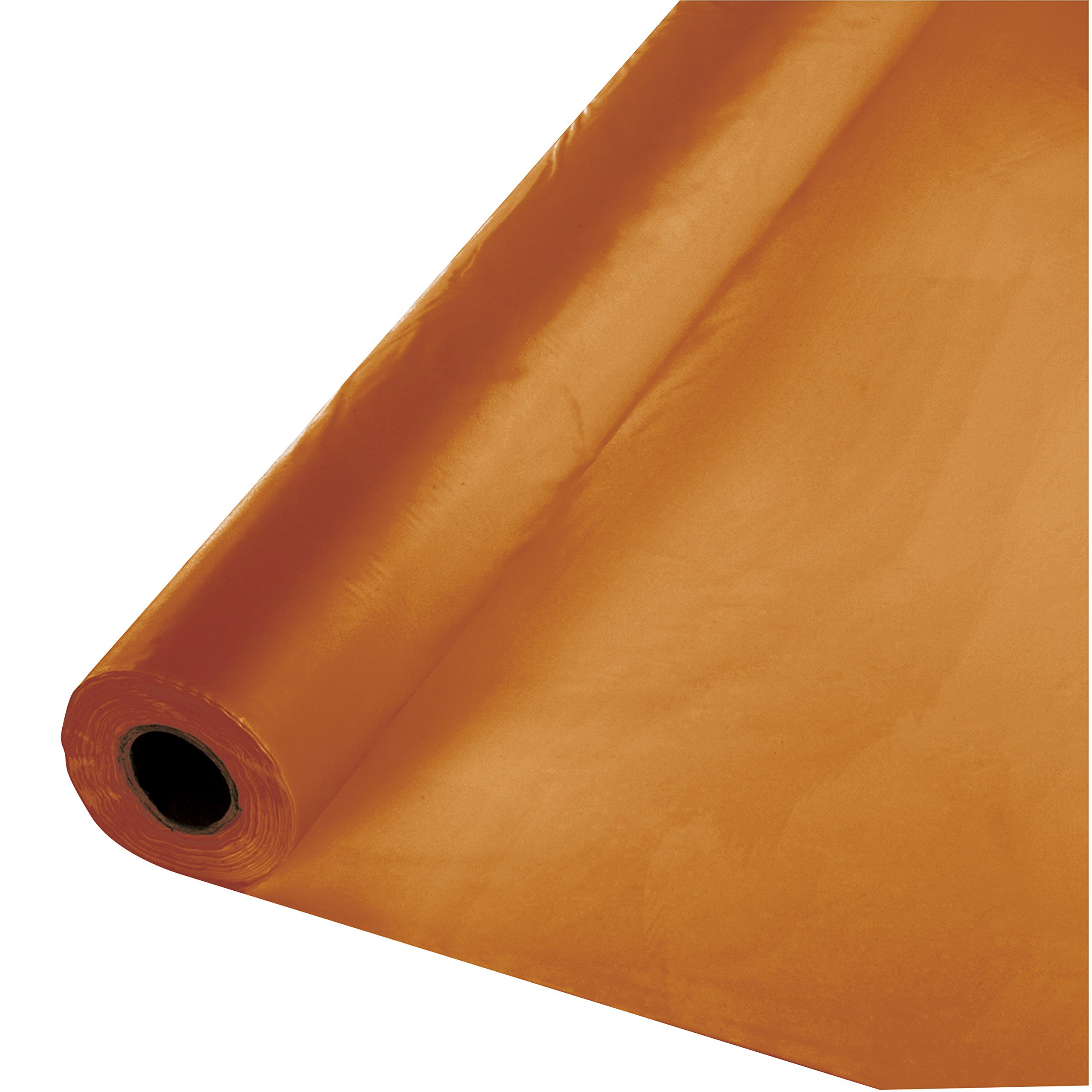 Creative Converting 323377 Touch Of Color 100' Plastic Table Banquet Roll, Pumpkin Spice, One Size by Creative Converting