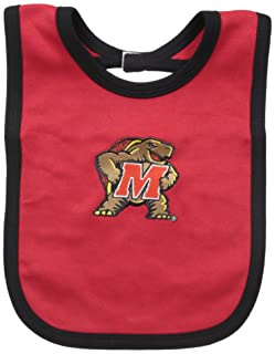 One Size Two Feet Ahead NCAA Maryland Terrapins Infant Knit Bib Red//Black