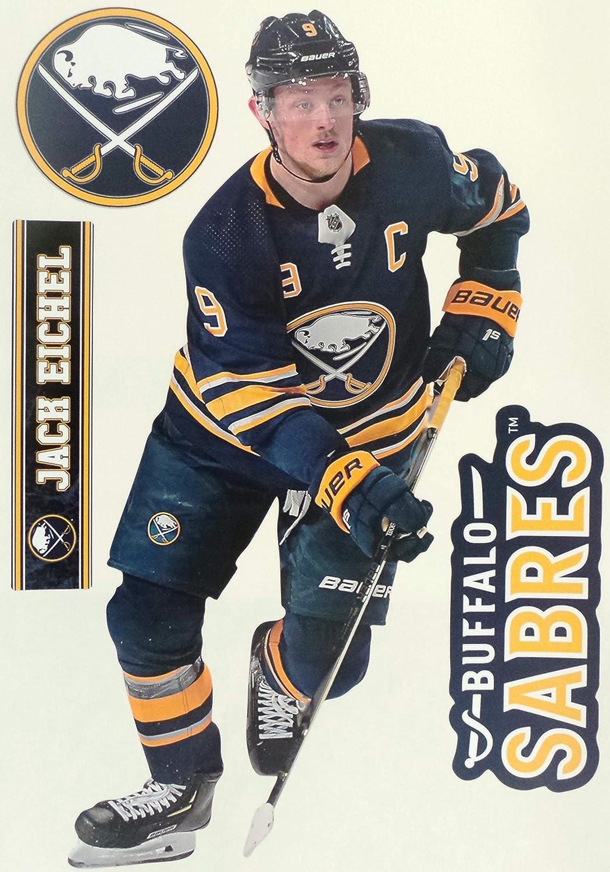 "FATHEAD Jack Eichel Buffalo Sabres Logo Official NHL Vinyl Wall Graphics 17"" INCH"