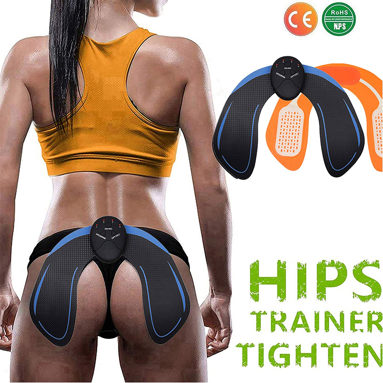 Nitoer Electrostimulateurs Musculaire fessier,Hips Trainer,Appareil de Fesse Intelligent Portable Massage,T/él/écommande Rechargeable pour Gym Workout /Équipement pour Femmes Hommes