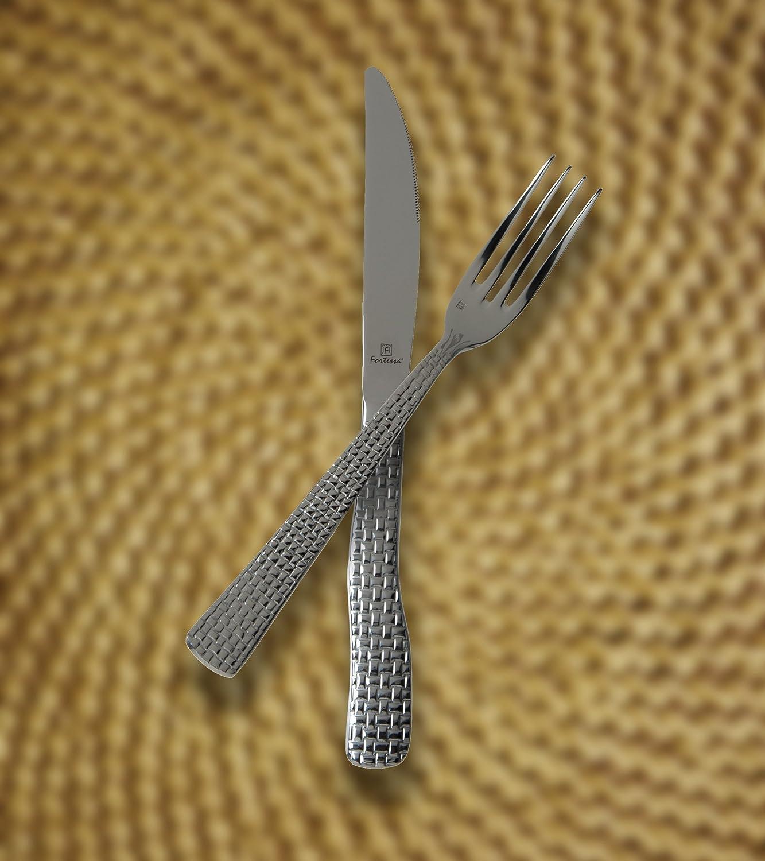 Set of 12 Fortessa //Schott Zwiesel 1.5.172.00.002 Fortessa Cestino 18//10 Stainless Steel Flatware Table Fork