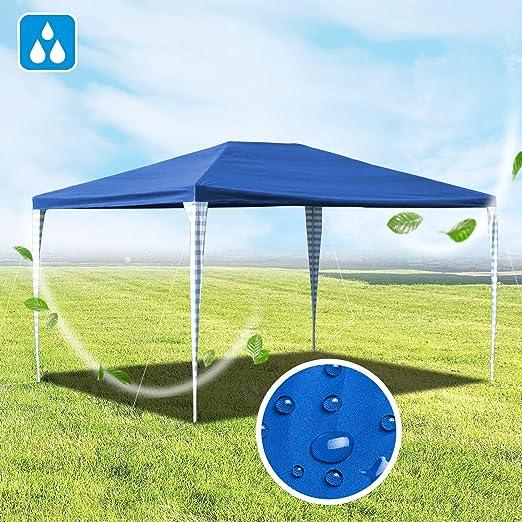 Hengda - Toldo de Polietileno para jardín, 3 x 4 m, toldo para Fiestas con protección UV, para Exteriores, jardín, Boda, Camping, sin Lados, Azul: Amazon.es: Jardín