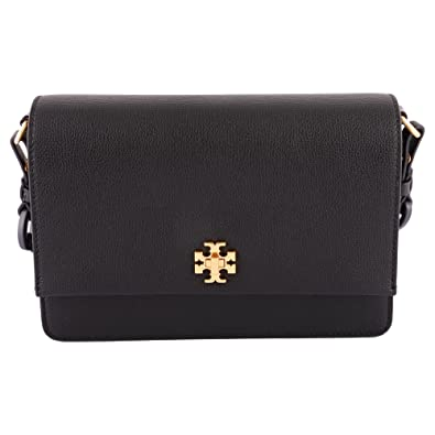 f72569a1f4ce9 Amazon.com  Tory Burch Kira Double Strap Shoulder Bag (Black)  Shoes