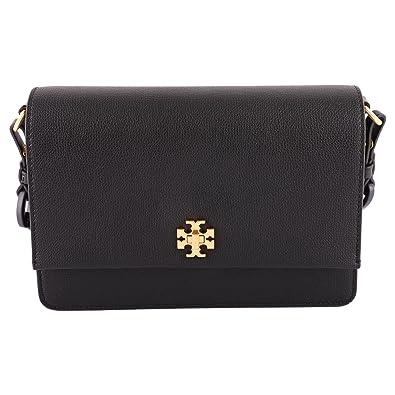 44152252186ce Amazon.com  Tory Burch Kira Double Strap Shoulder Bag (Black)  Shoes