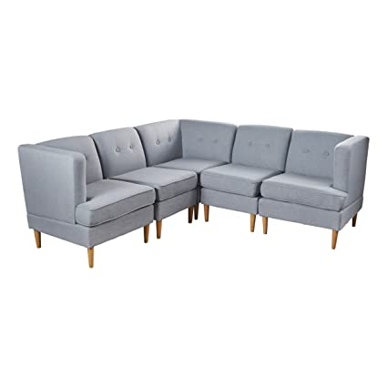 Amazon.com: Christopher Knight Home 301877 Milton Sectional ...