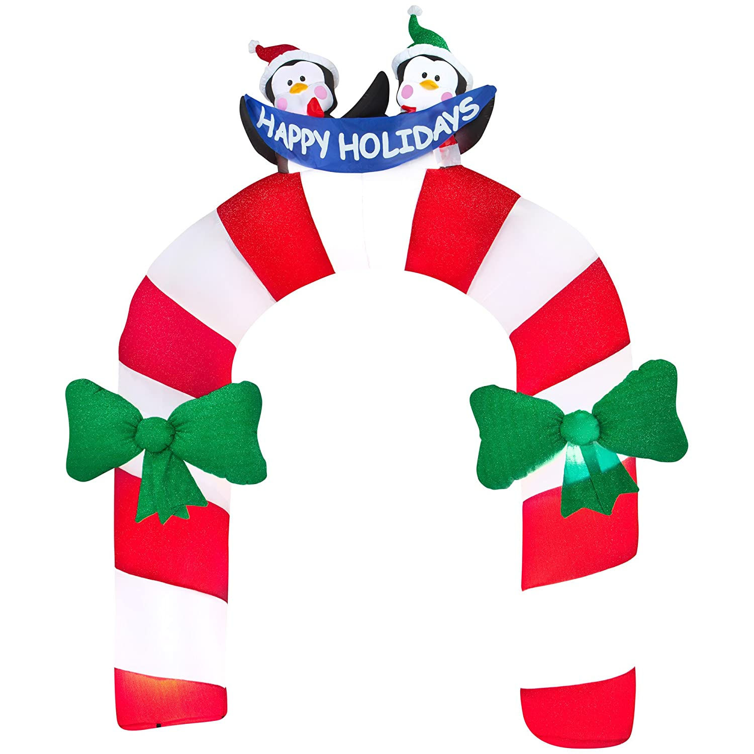 amazon com gemmy airblown inflatable mixed media candy cane