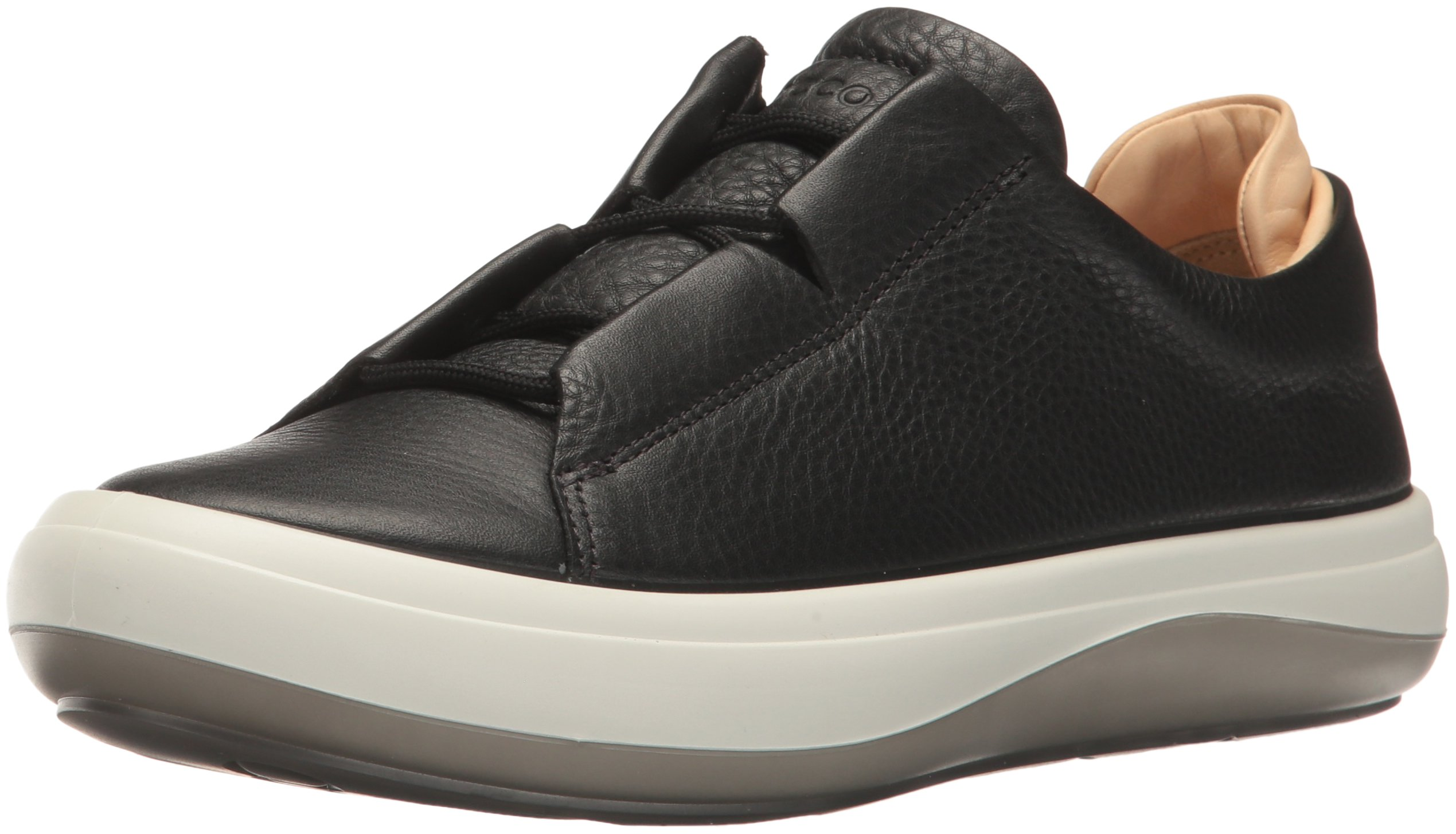 ECCO Women's Women's Kinhin Tie Fashion Sneaker, Black/Veg Tan, 36 EU / 5-5.5 US
