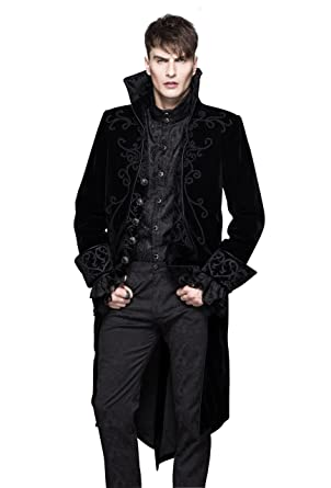 Steampunk Gothic Jacket Victorian Tailcoat Mens Clothing Punk Renaissance Cyberpunk Halloween Costumes L