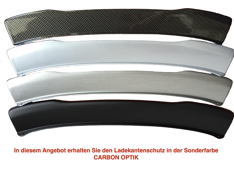 Aroba AR9845 voll Ladekantenschutz passgenau mit Abkantung ABS Sonderfarbe CARBON OPTIK f/ür M Sto/ßstange//M Paket