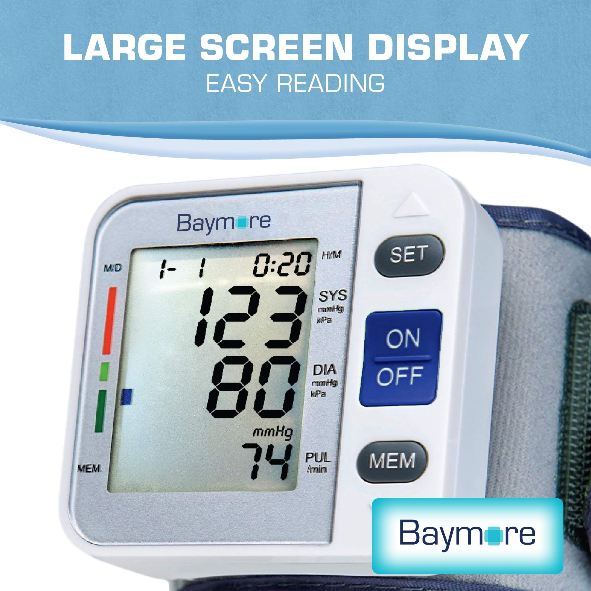 Baymore Digital Wrist Blood Pressure Monitor Cuff by Baymore (Image #3)