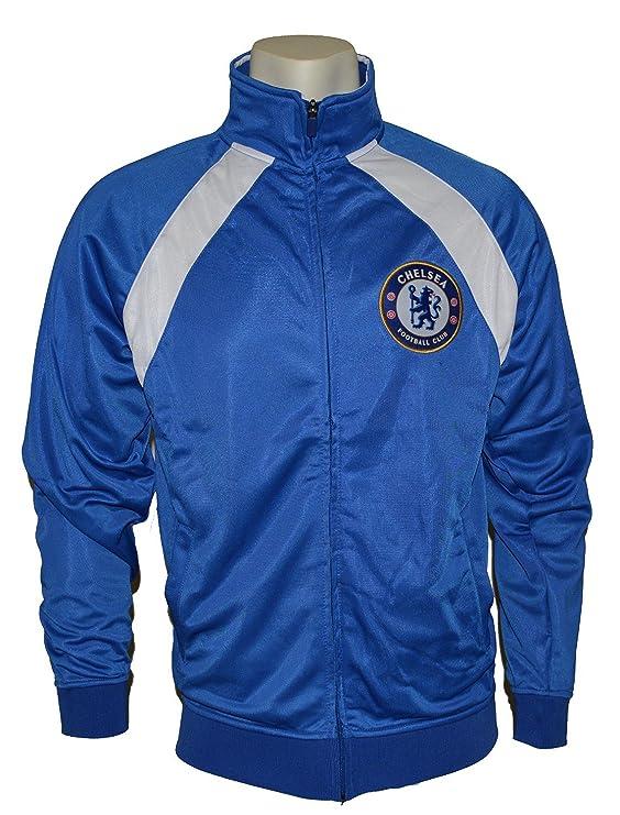 Chelsea FC con cremallera Sudadera con capucha chaqueta de chándal ...