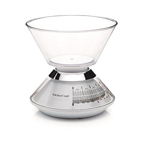 Kitchen Craft - Báscula de cocina mecánica con cuenco (hasta 3 kg)