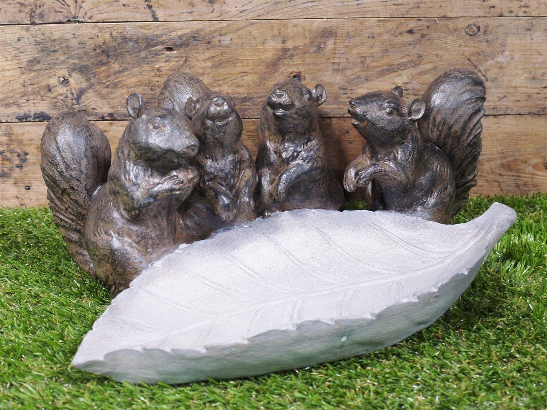 Black Country Metal Works Woodland Squirrel Bird Bath