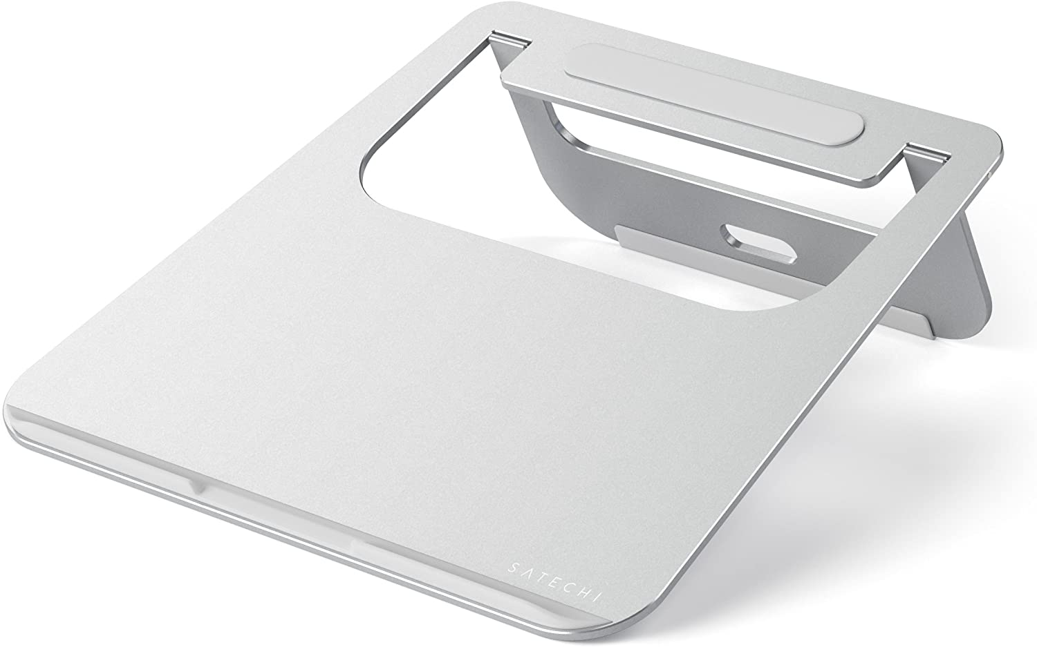 Satechi Lightweight Aluminum Portable Laptop Stand - Compatible with MacBook, MacBook Pro, Microsoft Surface Pro and more (Silver)