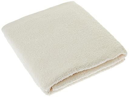 Lasa Home – Toalla de baño, algodón, Beige, 100 x 150 x 1