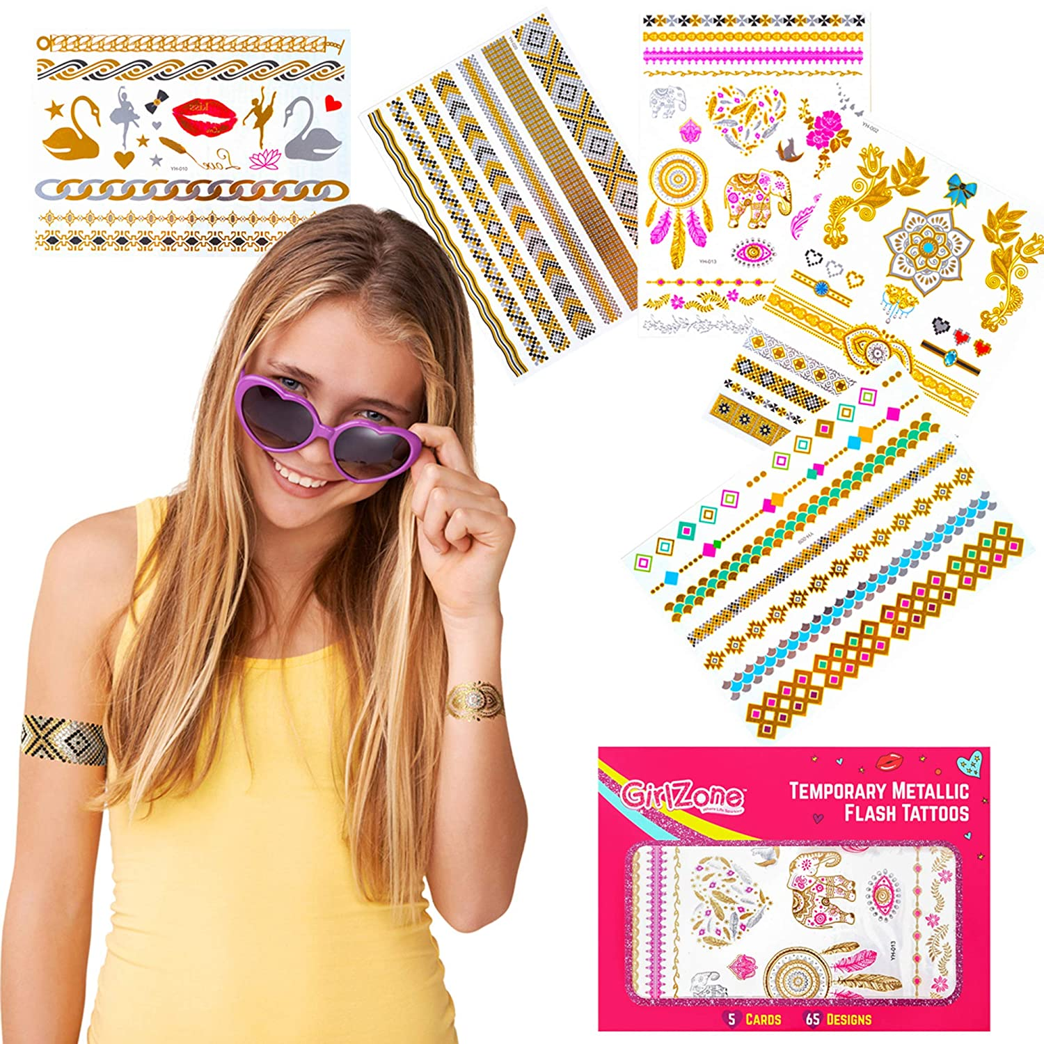 Temporary Tattoos for Kids  Kids Tattoos  Party Favors  Great Birthday Gift Present for Girls of All