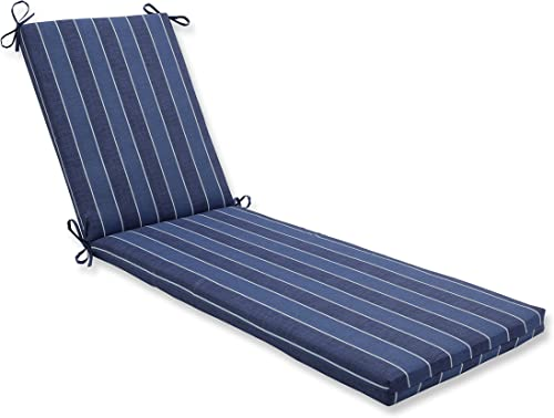 Cheap Pillow Perfect Outdoor/Indoor Wickenburg Indigo Chaise Lounge Cushion 80x23x3,Blue outdoor chair cushion for sale