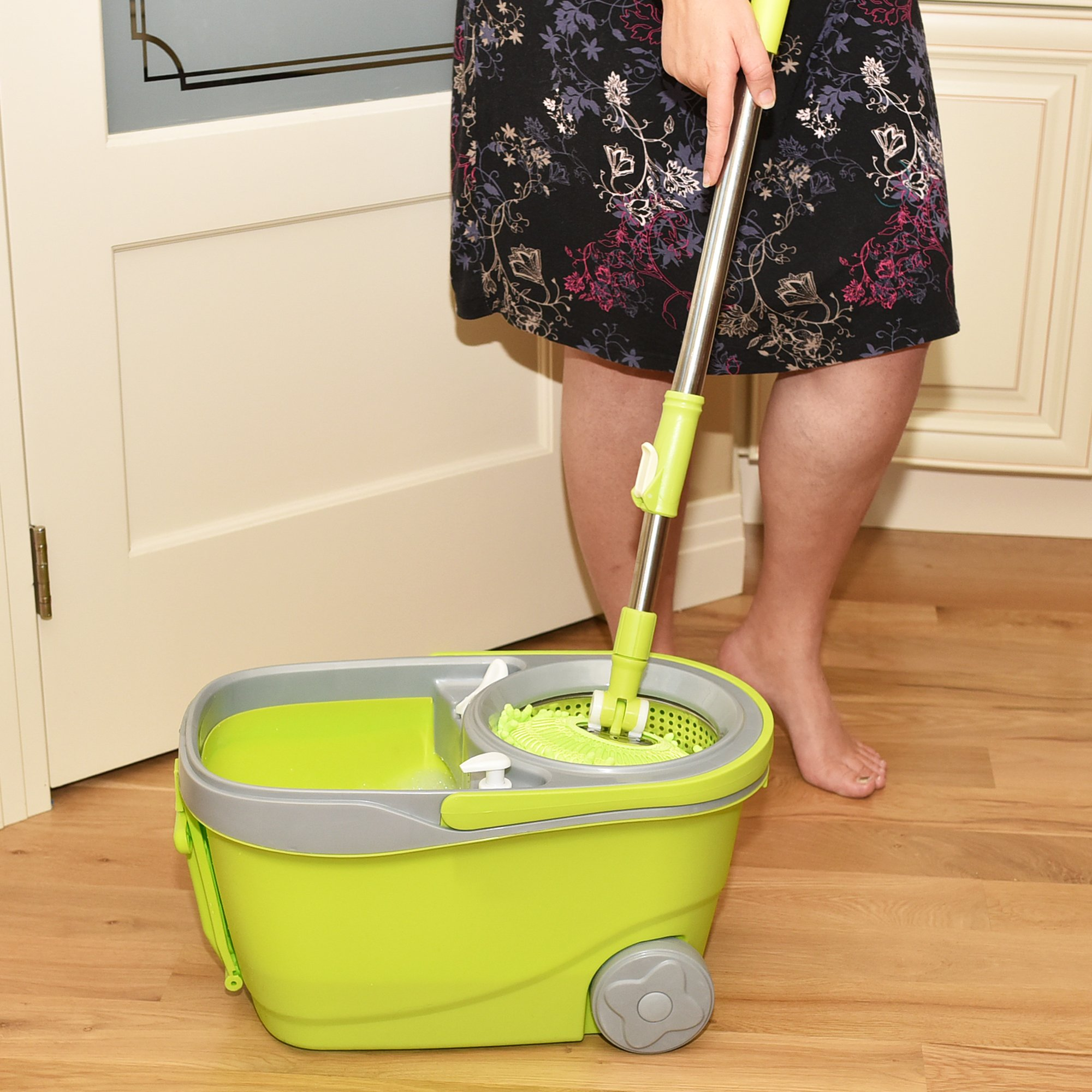 spin mop replacement head instructions